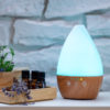 Арома дифузер Dark Wood Vase със светлини синя