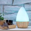 Арома дифузер Light Wood Vase със светлини син