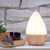Арома дифузер Light Wood Vase със светлини бял
