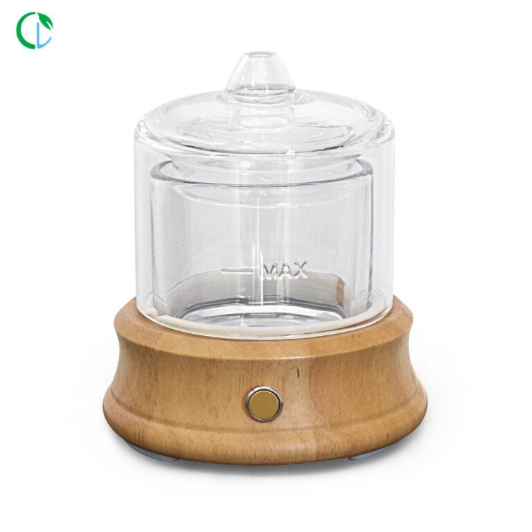 Арома Дифузер Crystal Pure естествено дърво и стъкло безжичен 80 мл