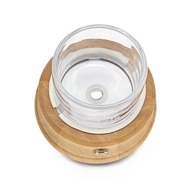 Арома Дифузер Crystal Pure естествено дърво и стъкло с USB и щепсел 80 мл