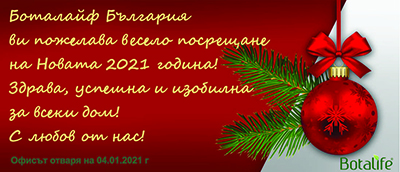 Честита 2021 година